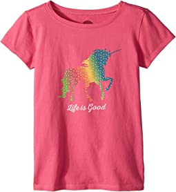 Life is Good Kids - Rainbow Unicorn Crusher Tee (Little Kids/Big Kids)