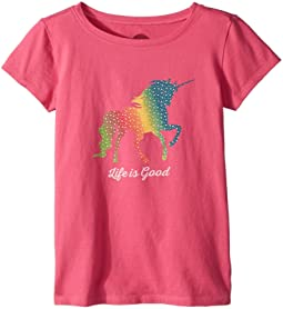 Life is Good Kids Rainbow Unicorn Crusher Tee (Little Kids/Big Kids)