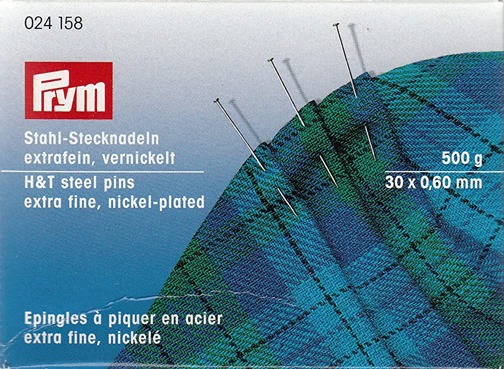 PRYM 024158 Straight pins No. 6 EF, 30x0,60mm 500g box