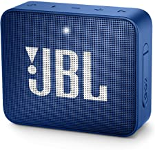JBL GO2BLU Go 2 Portable Bluetooth Waterproof Speaker (Deep Sea Blue), 4.3 x 4.5 x 1.5