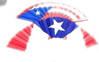 Mexrri Quenos Puerto Rico Folding Fan, Craft Silk Fan, Women Cooling Fan, Durable Plastic Fabric Folding Fan, Fan for Lady Use (2 Style)