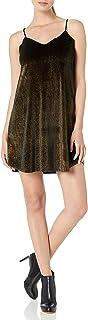فستان أنجي للنساء بشريط ذهبي مخملي سباغيتي