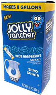 Jolly Rancher Blue Raspberry Sugar Free Caffeine Free Powdered Drink Mix ~ 8 packs