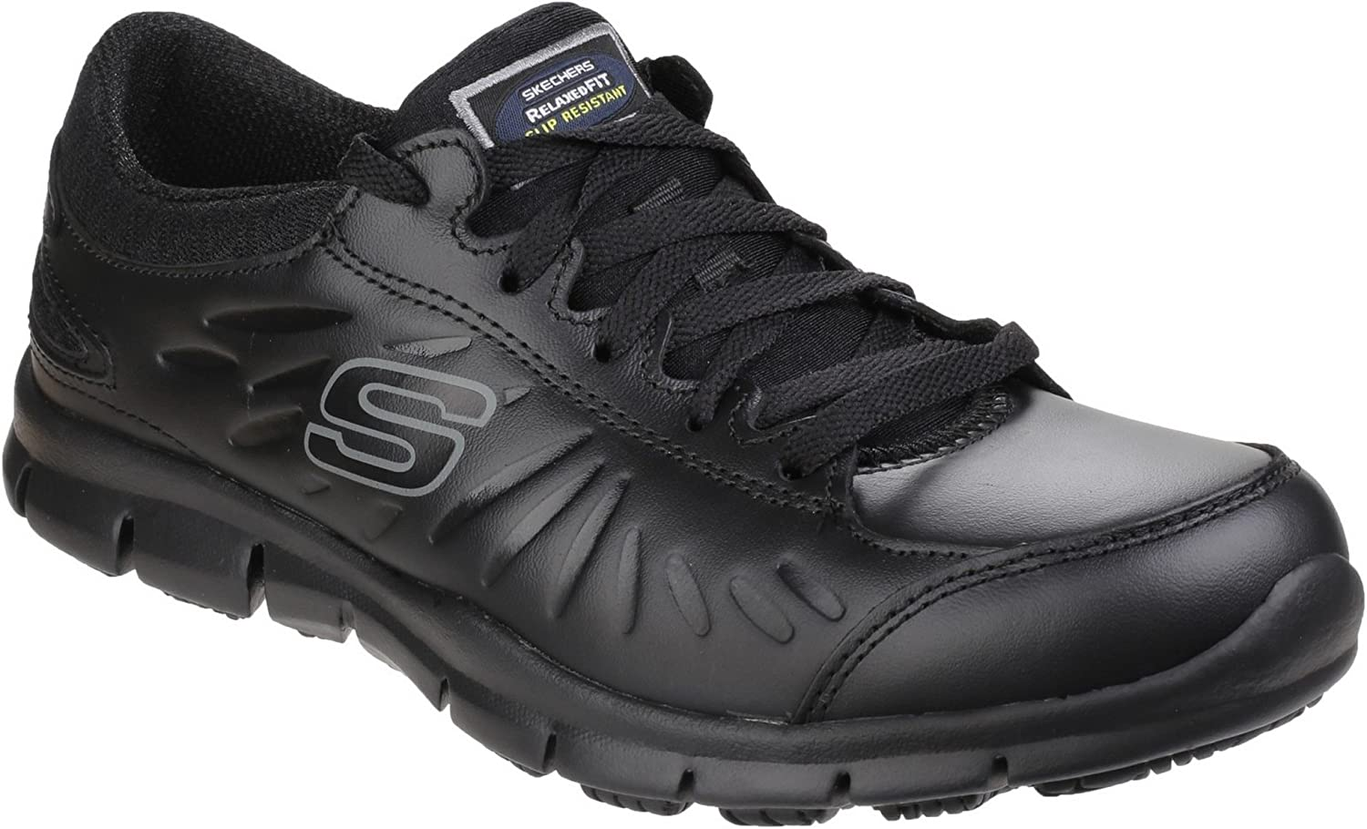 Skechers Occupational Womens Ladies Eldred Slip Resistant Lace Up Work shoes