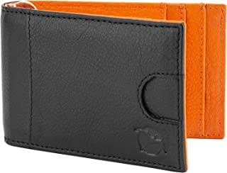 Flying Fossil Genuine Leather Hand-Crafted Card Holder, Minimalist Wallet, Unisex, Black - FFCH00001
