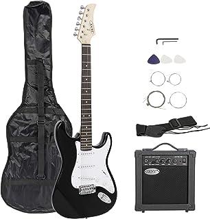 "ZENY 39 ""گیتار الکتریک کامل با آمپر، کیف و لوازم جانبی Packet Starter Starter (39""، Black)"