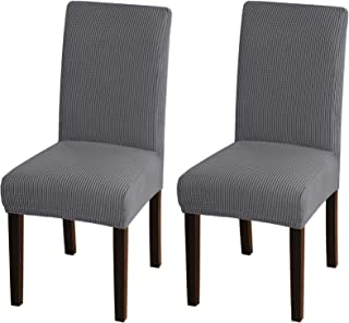 Best Turquoize Chair Covers for Dining Room Dining Chair Covers Set of 2 Stretch Dining Chair Slipcover Parsons Chair Covers Removable Chair Protector Covers for Dining Room, Hotel, Ceremony (2, Grey) Reviews