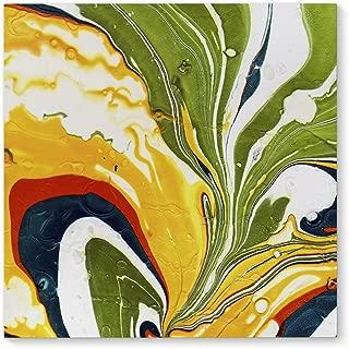 KAVKA DESIGNS Diluvium 画布艺术,(绿色/黄色/红色/蓝色) -,尺寸:12x12x1.5 - (PLUAVC2711GW12S)