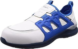 [シモン] プロスニーカー 短靴 JSAA規格 耐滑 軽快 スニーカー スリッポン 反射 KL517白/ブルー