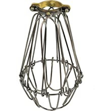 Rustic State Industrial Vintage Style Metal Wire Light Cage Guard for DIY Lighting Fixtures - Adjustable Cage Openings to Different Styles (Bronze)