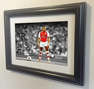 Signed Alexis Sanchez Autographed Arsenal Photo Picture Frame Memorabilia bw sml by Kicks