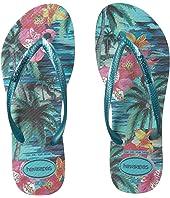 Slim Tropical Flip Flops