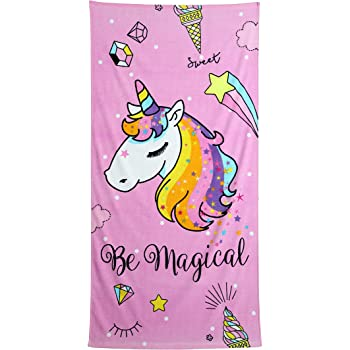 Unicorn Unicornio Toalla de ba/ño/ /70/x 140/cm 100/% algod/ón I Want a