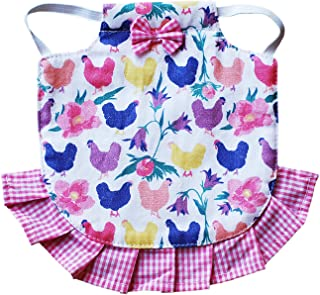 Hen Couture Hen Saddle Single Strap Apron Jacket Standard Size Chicken Poultry (Pink)