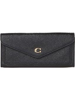 코치 지갑 COACH Cross Grain Leather Wyn Soft Wallet,LI/Black