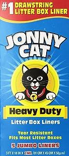 JONNY CAT Litter Box Liners, Heavy Duty, Jumbo 5 Per Box (4 Pack/Boxes)