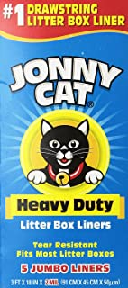 JONNY CAT Heavy Duty Litter Box Liners, Jumbo, 5 Liners-Box