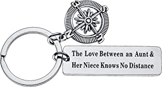 Aunt Niece Nephew Gift Keychains The Love Between an Aunt and Niece Nephew No Distance
