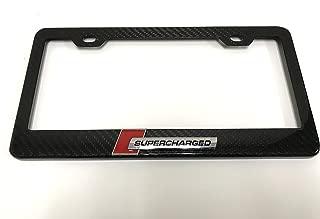 Deepro 3D SUPERCHARGED Real Carbon Fiber License Plate Frame Holder Sportline Turbo