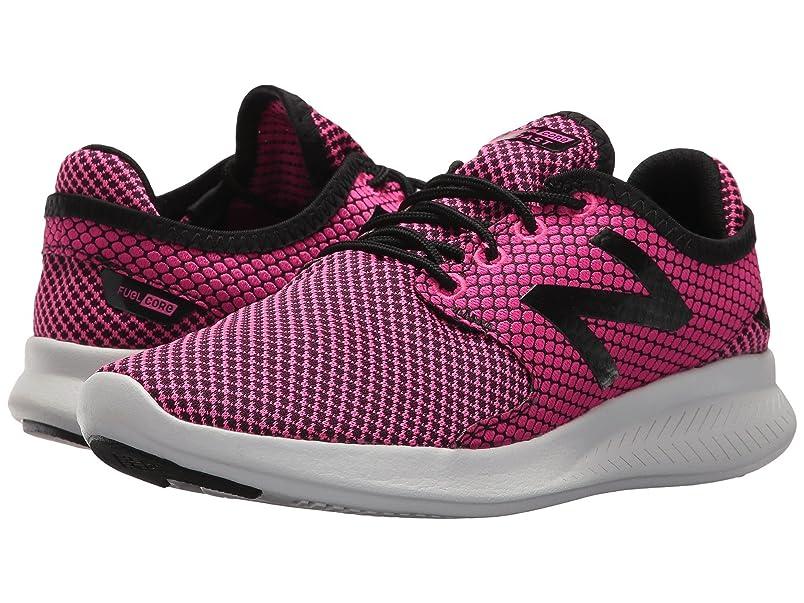 マチュピチュアヒル正確に(ニューバランス) New Balance レディースランニングシューズ?スニーカー?靴 Coast v3 Pink Glo/Black 5 (22cm) B - Medium