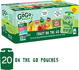 GoGo squeeZ Applesauce on the Go, Variety Pack (Apple Apple/Apple Peach/Apple GIMME 5),..