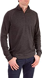 Woolly Clothing Men's Merino Pro-Knit Wool Quarter Zip Sweatshirt - Mid Weight - Wicking Breathable Anti-Odor
