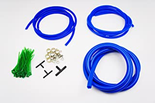 Autobahn88 Engine Room Silicone Vacuum Hose Dress Up DIY Kit, Fit All Models of Toyota (Blue)