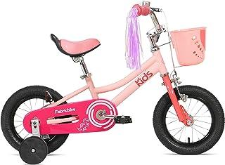 FabricBike Kids - Bicicleta con Pedales para niño y niña, Ruedines de Entrenamiento Desmontables, Frenos, Ruedas 12 y 16 Pulgadas, 4 Colores