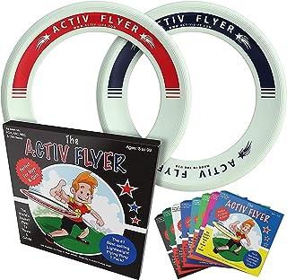Activ Life(アクティブライフ) 子供用フライングリング[2個入] まっすぐ飛ぶ&痛くない-標準のフリスビーよりも80%軽量化-スマホに触る時間を家族との健康的で楽しい時間に-外に出て遊ぼう-アメリカ製