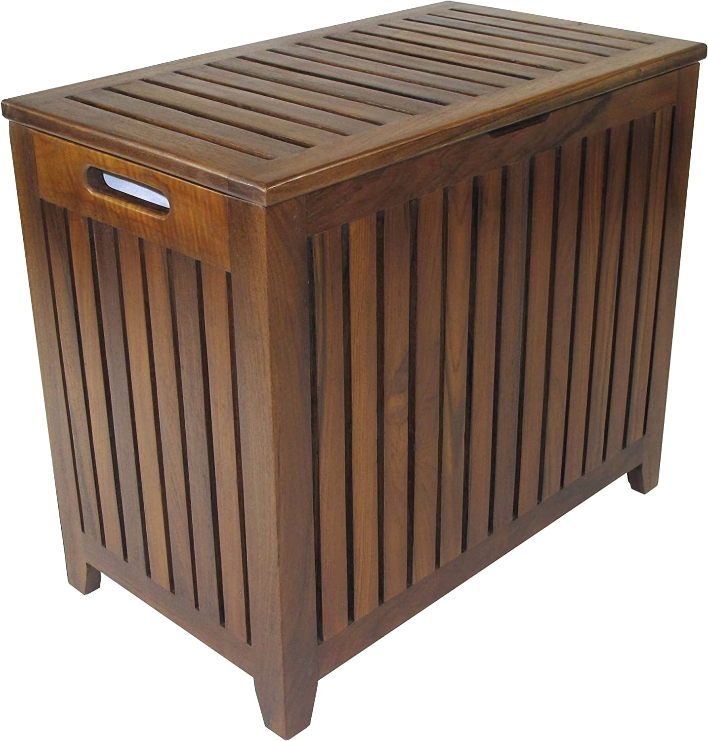 Redmon Teak Collection Vanity Hamper,