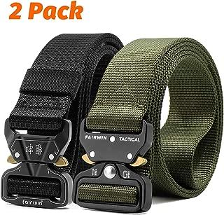 Tactical Belt, 2 Pack 1.5 Inch Military Tactical Belts for Men - Carry Tool Belt