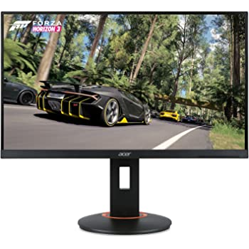 "Acer XF250Q Cbmiiprx 24.5"" Full HD (1920 x 1080) Zero Frame TN Gaming AMD FreeSync Compatible Monitor - 1ms | 240Hz Refresh (Display, HDMI 2.0, HDMI 1.4 Ports), Black"