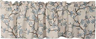 Crabtree Collection Blue Curtain Valance for Windows (16 x 60) … (Cherry Blossom)