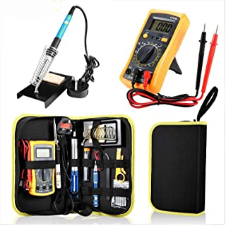 23 in 1 Multi-use Electric Soldering Iron Tools Set Various Devices Temperature Multimeter Desoldeirng Pump Welding Tool E...