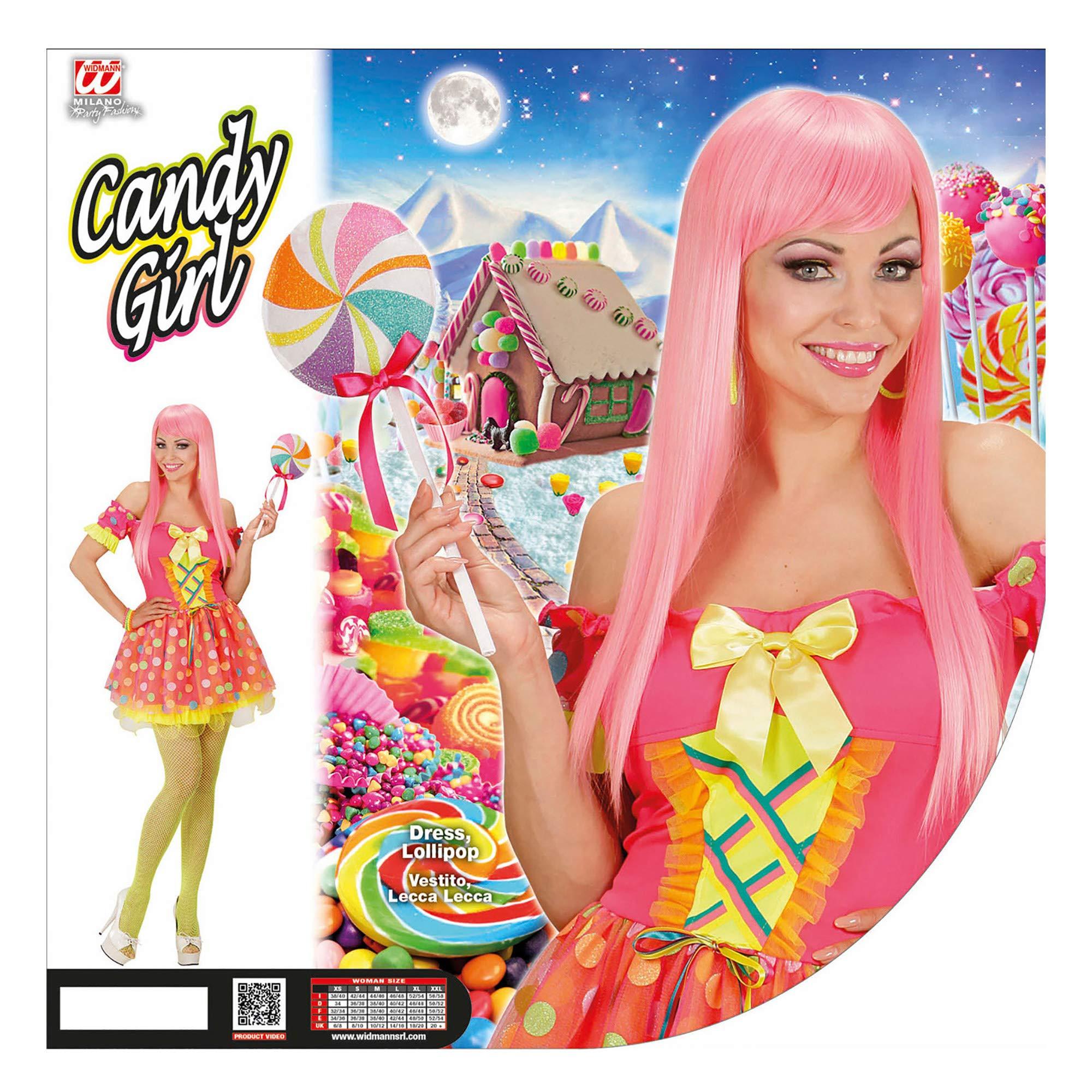 WIDMANN 49193 ? Adultos Disfraz Candy Girl, vestido y piruleta ...
