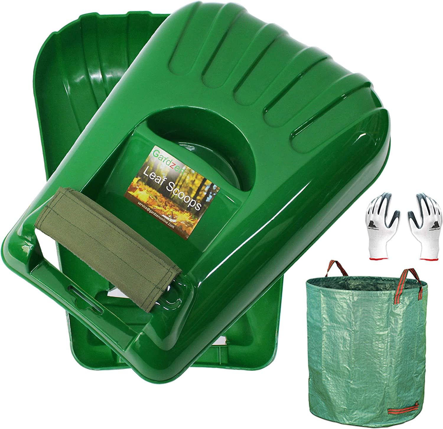 Max 58% OFF Gardzen Large Leaf SEAL limited product Scoop Hand Rakes Yard Remov Waste Debris and