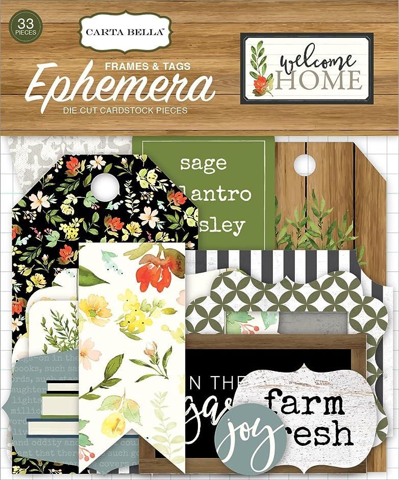 Carta Bella Paper Company Welcome Home Frames & Tags Ephemera