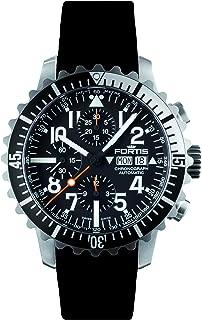 Fortis 671.17.41 K B-42 MARINEMASTER BLACK/SILVER Mens Chronograph Automatic Watch