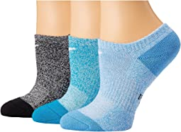 Performance Cushioned No Show Training Socks 3-Pair Pack