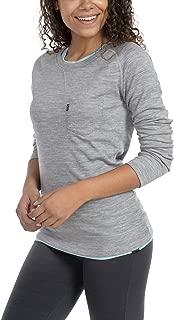 Woolly Clothing Women's Merino Pro-Knit Wool Crew Neck Sweatshirt - Mid Weight - Wicking Breathable Anti-Odor