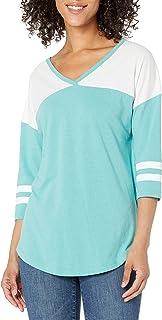 SOFFE womens Fan Crew V-Neck Shirt