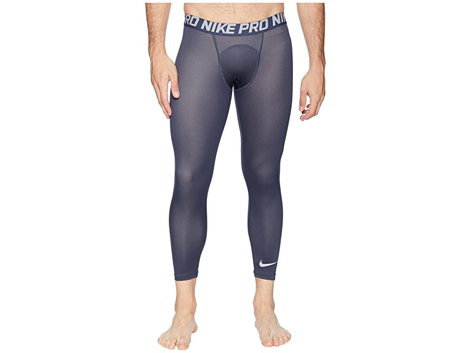 Nike Pro Tights 3/4 Color Burst 2 (Thunder Blue/Wolf Grey/Wolf Grey) Men