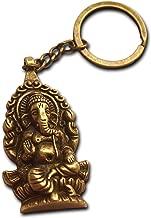 Ganesha Buddha Elefant Schlüsselanhänger Bronze Antik Überzogene Geschenk für Männer Schlüsselanhänger Hindu Geschenk Gott der Neuanfänge Mythologie Mystik