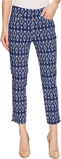 "Stretch Printed Bengaline 25"" Pull-On Capris"