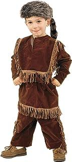Daniel Boone Davy Crockett Costume with Raccoon Skin Cap (Medium / 6x-8)