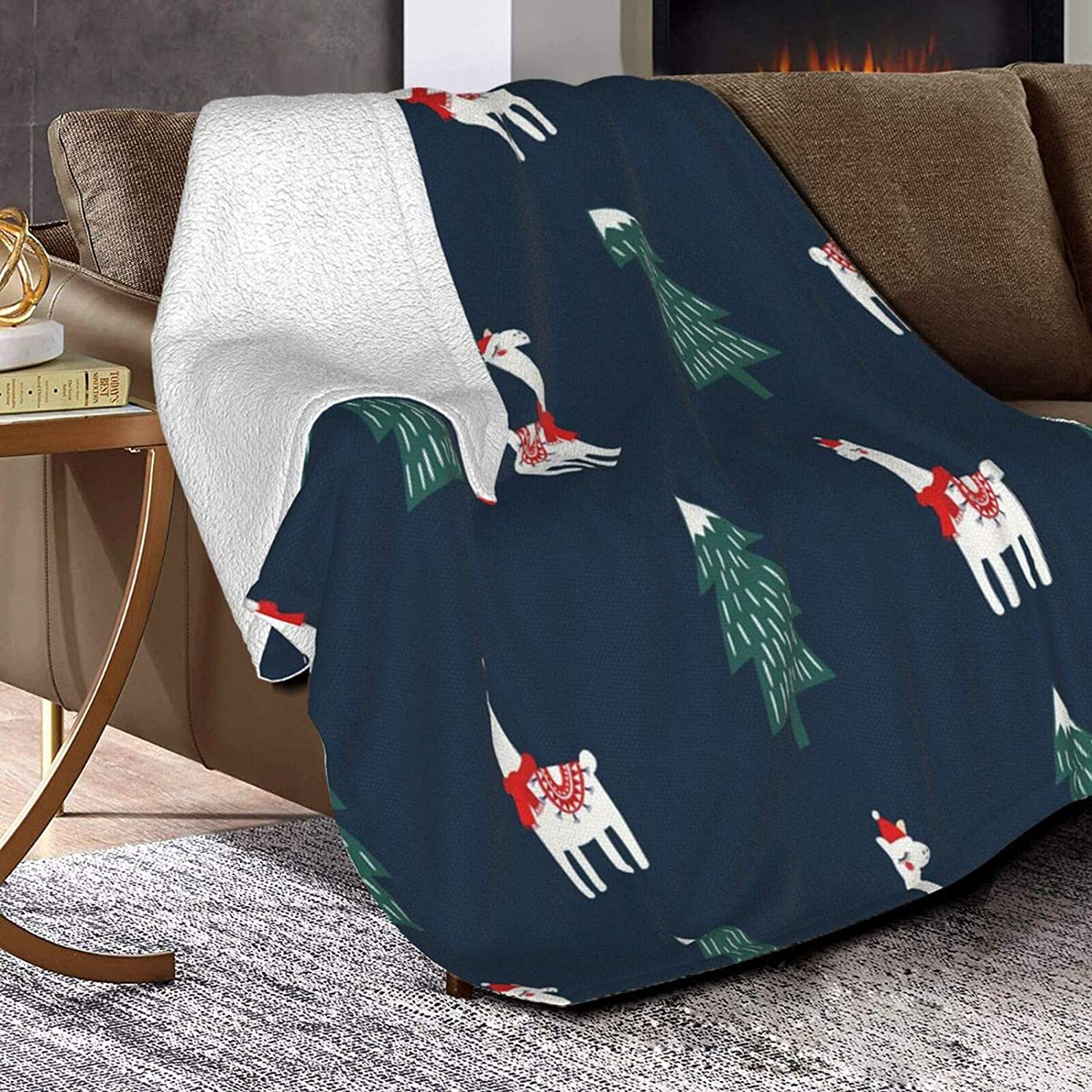 Flannel Fleece Blanket for Adult Kids,Soft Anti-Fleece Air Conditioning Blanket,Moss Green Beautiful Growth On Ground,Fleece Bed Sofa Couch Warm Throw Blanket 50x40