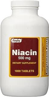 Rugby Niacin 500 mg 1000 Tabs
