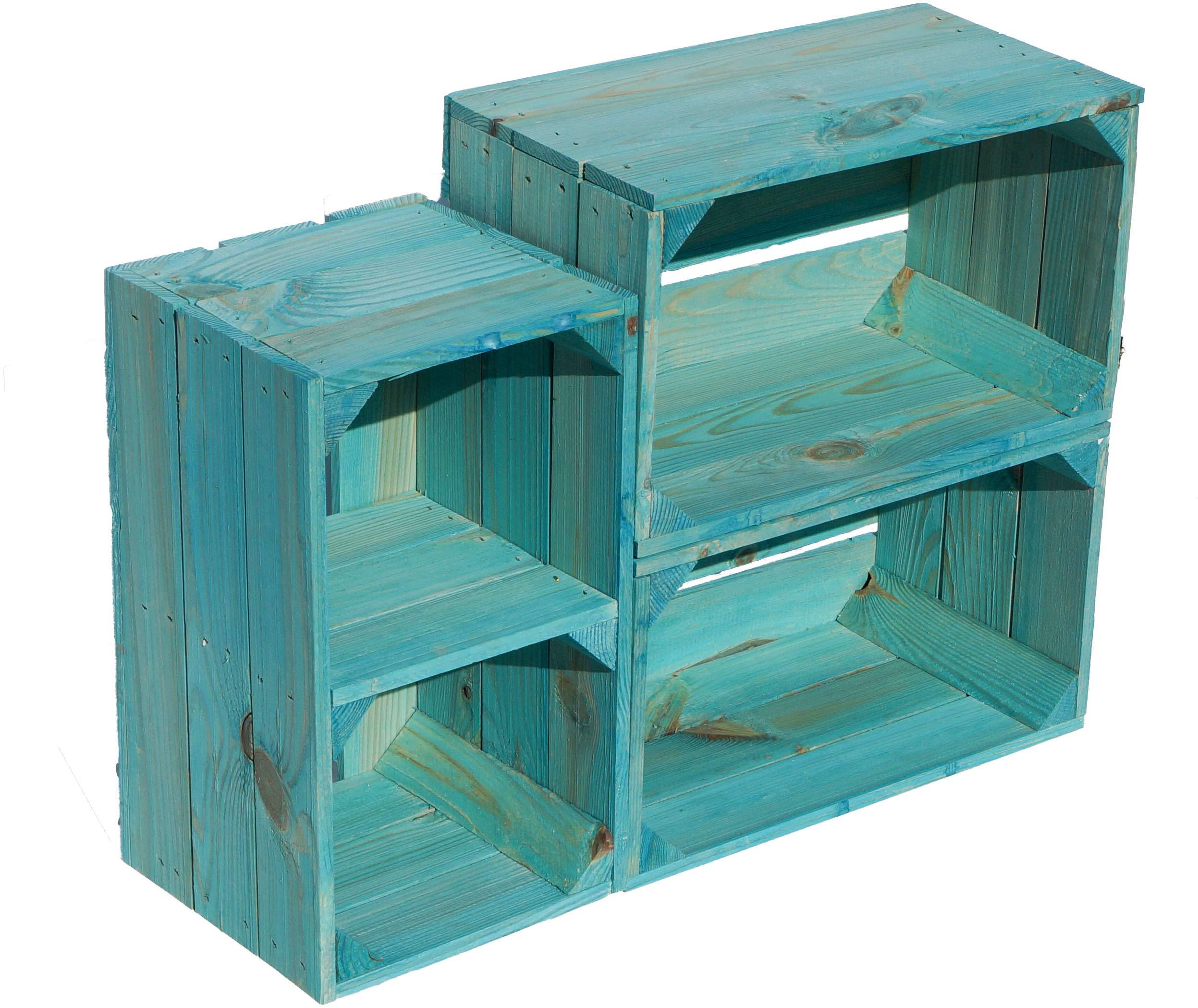 Caja kolli Altes Land Estantería Caja Hilde Turquesa sin 38 x 22 x ...