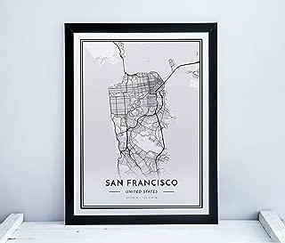 Alvar Carto San Francisco Poster - City Map Print - Minimalistic Scandinavian Wall Art - 12
