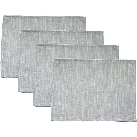 Rectangular Placemat Set Light Grey